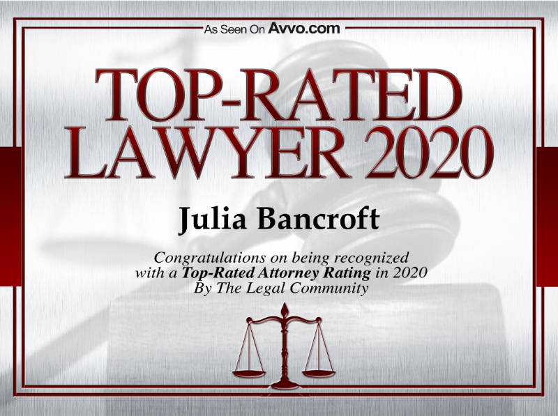 Avvo Top Rated Lawyer 2020